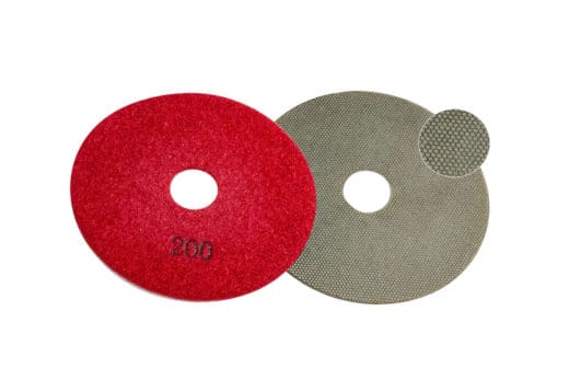 Diamond Pad 100Ø Red QRS Image