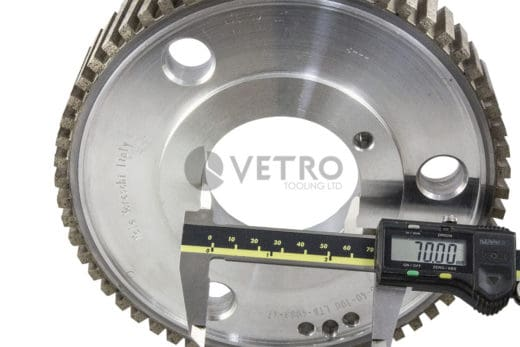 Diamond Wheel 200Ø Segmented Hog 40 Deep 70 Bore Watermark Product