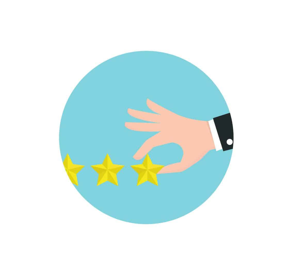 Businessman Hand Giving Five Star Rating